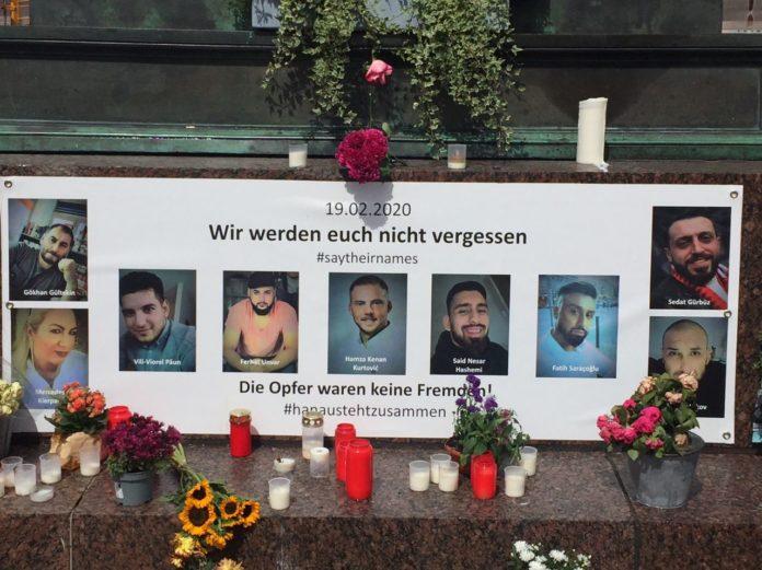 Memorial contra el ataque racista enHanau, Alemania