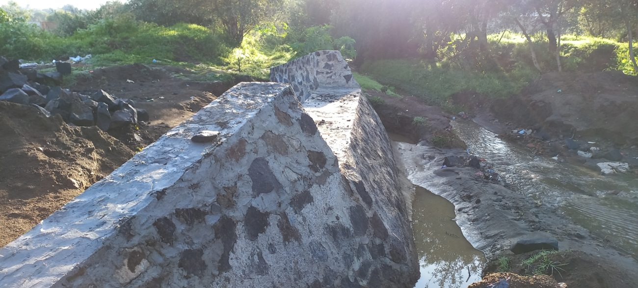 Parte de la obra del puente