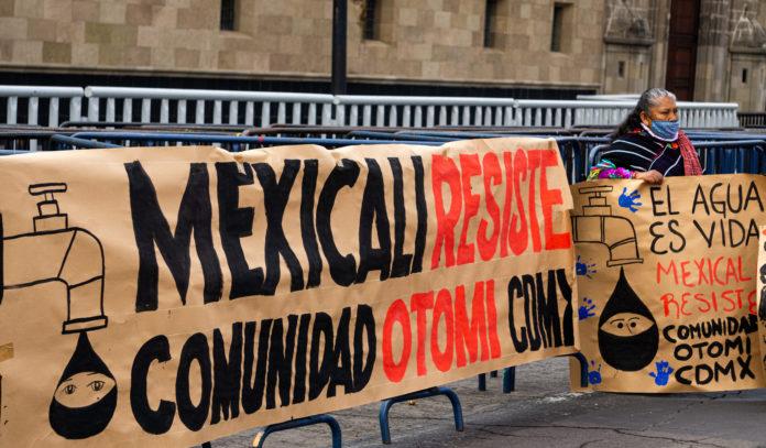 Mitin en solidaridad con Mexicali Resiste